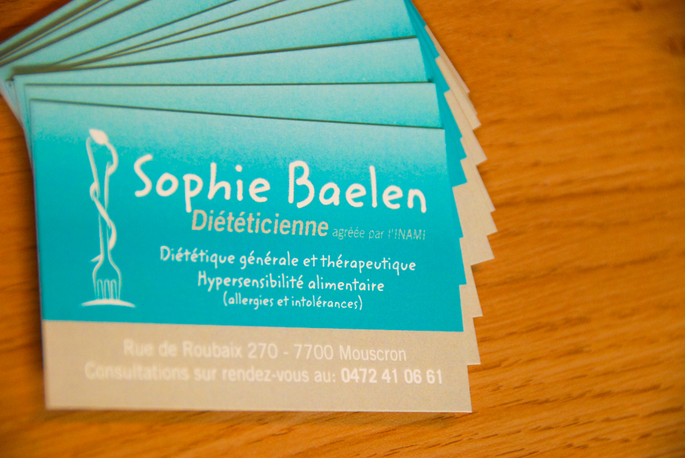 carte visite Sophie Baelen