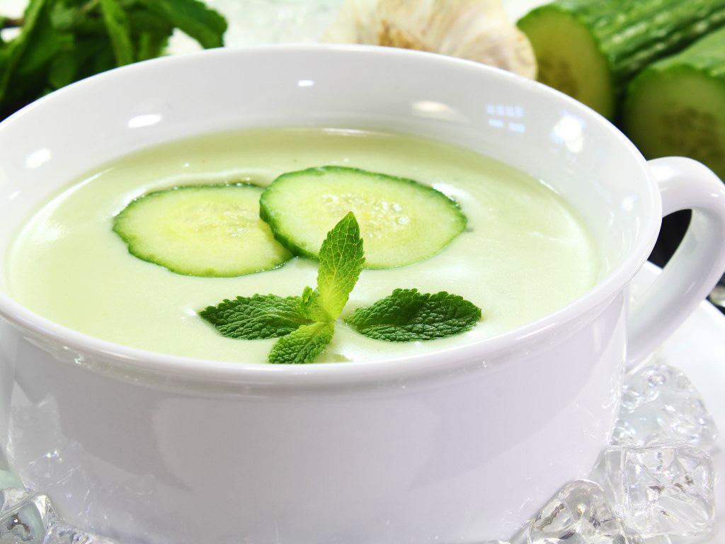 recette de potage au concombre
