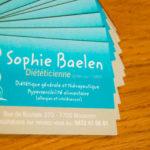 cartes de visite de Sophie Baelen, diététicienne